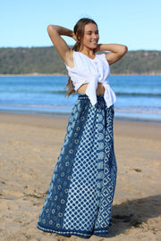 Gypsy Style Indian Cotton Hand Block Printed Skirt Pants