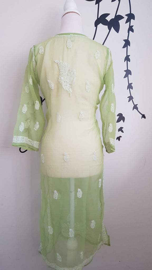 Ibiza Style Long Tunic -Hand Embroidered Georgette