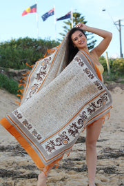 India Raw Silk Scarf Stole Dupatta Sarong Pario