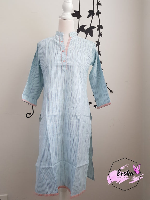 Indian Khadi Kurta Kurti Tunic - S Size