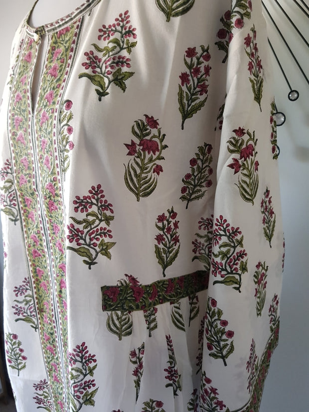 Long Kaftan Dress - Floral Garden