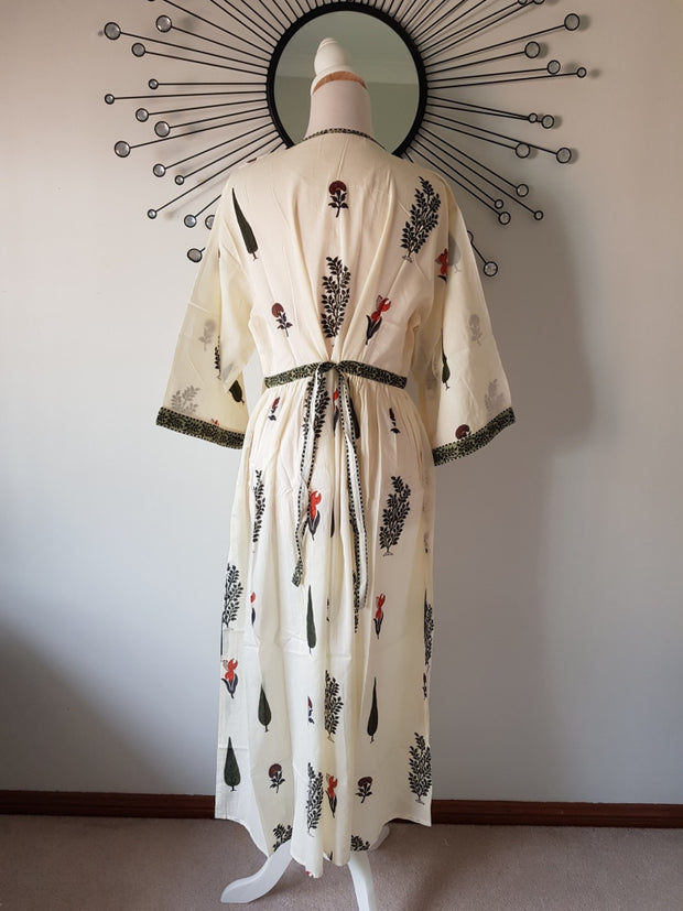 Long Kaftan Dress - Garden