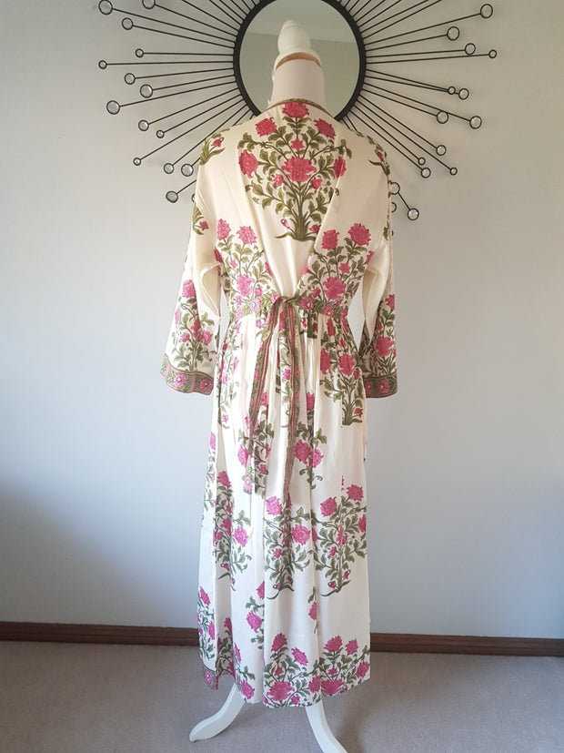 Long Kaftan Dress - Pink Bouquet