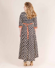 Monochrome Cotton Voile Long Up-Down Dress