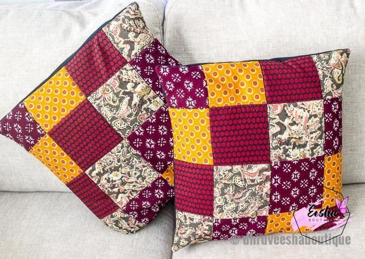 Pair Of Patch Work Pillow Cover