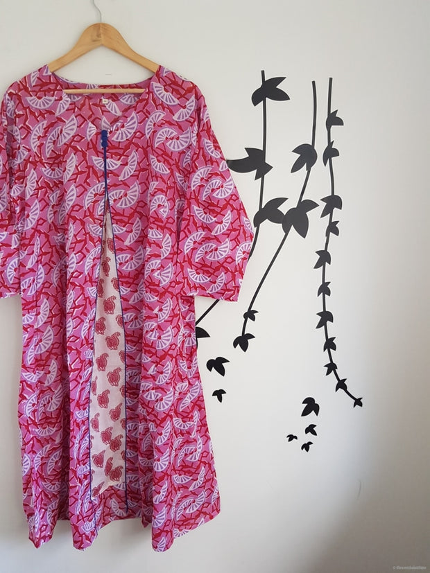 Pink Lemon Long Kaftan Summer Dress