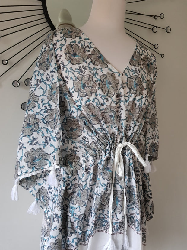 Short Kaftan - Print With Tussles