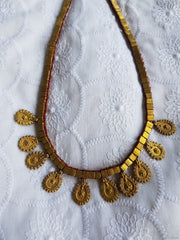 Tribal Petal Brass Pendant Necklace