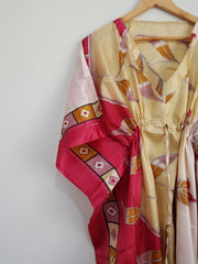 Vintage Silk Kaftan Long