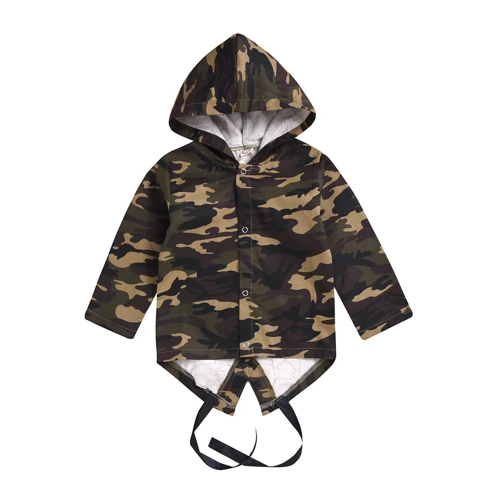 Camo Hooded Coat