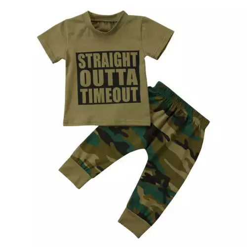 Camo Straight Outta Timeout Set