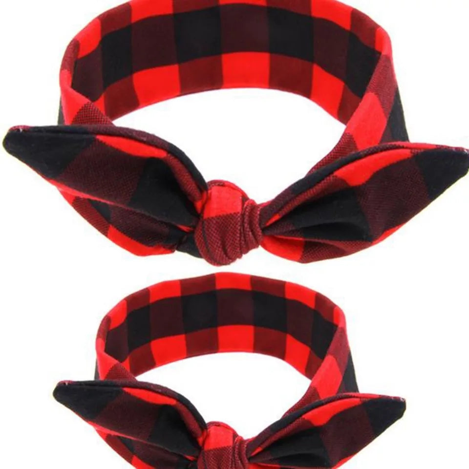 Mummy & Me Plaid Headwrap