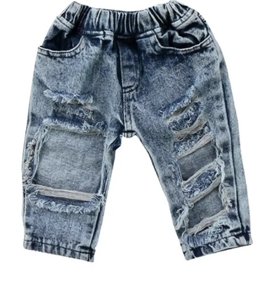 Mini Ripped Denim Jeans