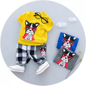 Frenchie Plaid Set
