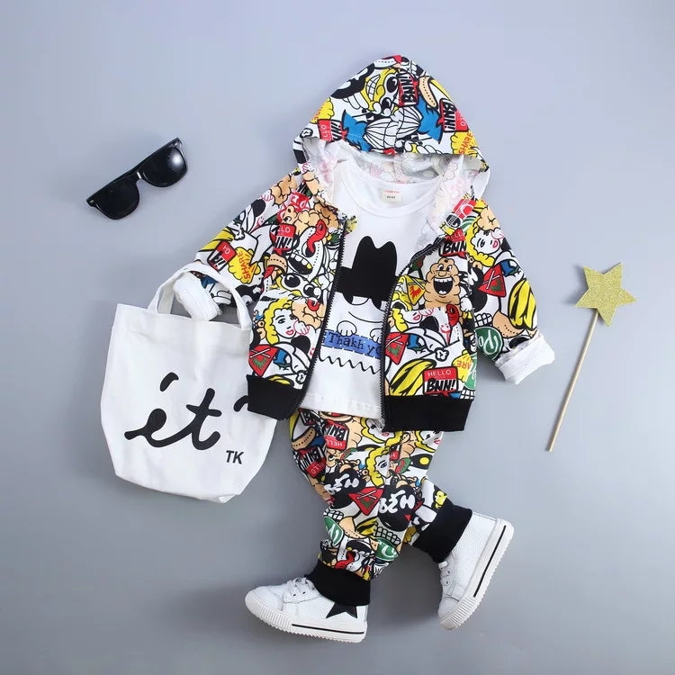 Cartoon Tracksuit Set