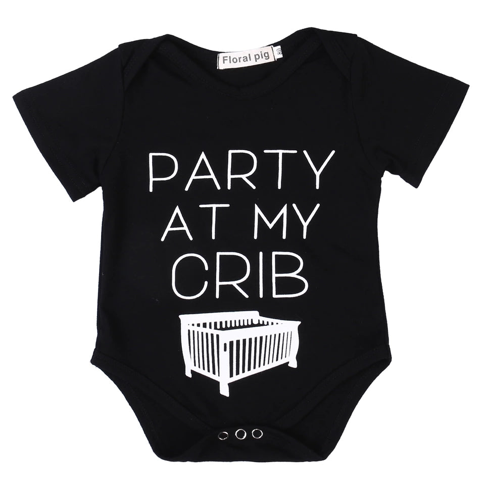 Party At My Crib Romper