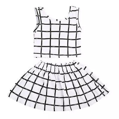 Monochrome Skirt Set