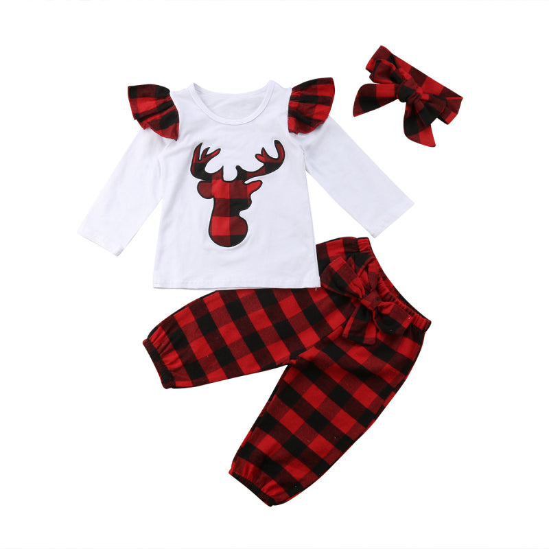 Plaid Deer Set