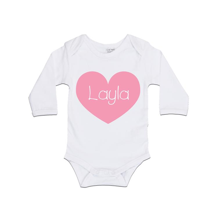 MLW  By Design - Personalised Heart Bodysuit