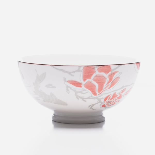 Coral Peony Bowl