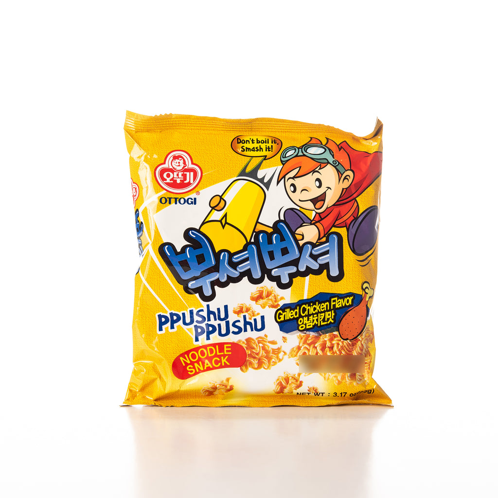 Ottogi Ppushu Ppushu Grilled Chicken Noodle Snack