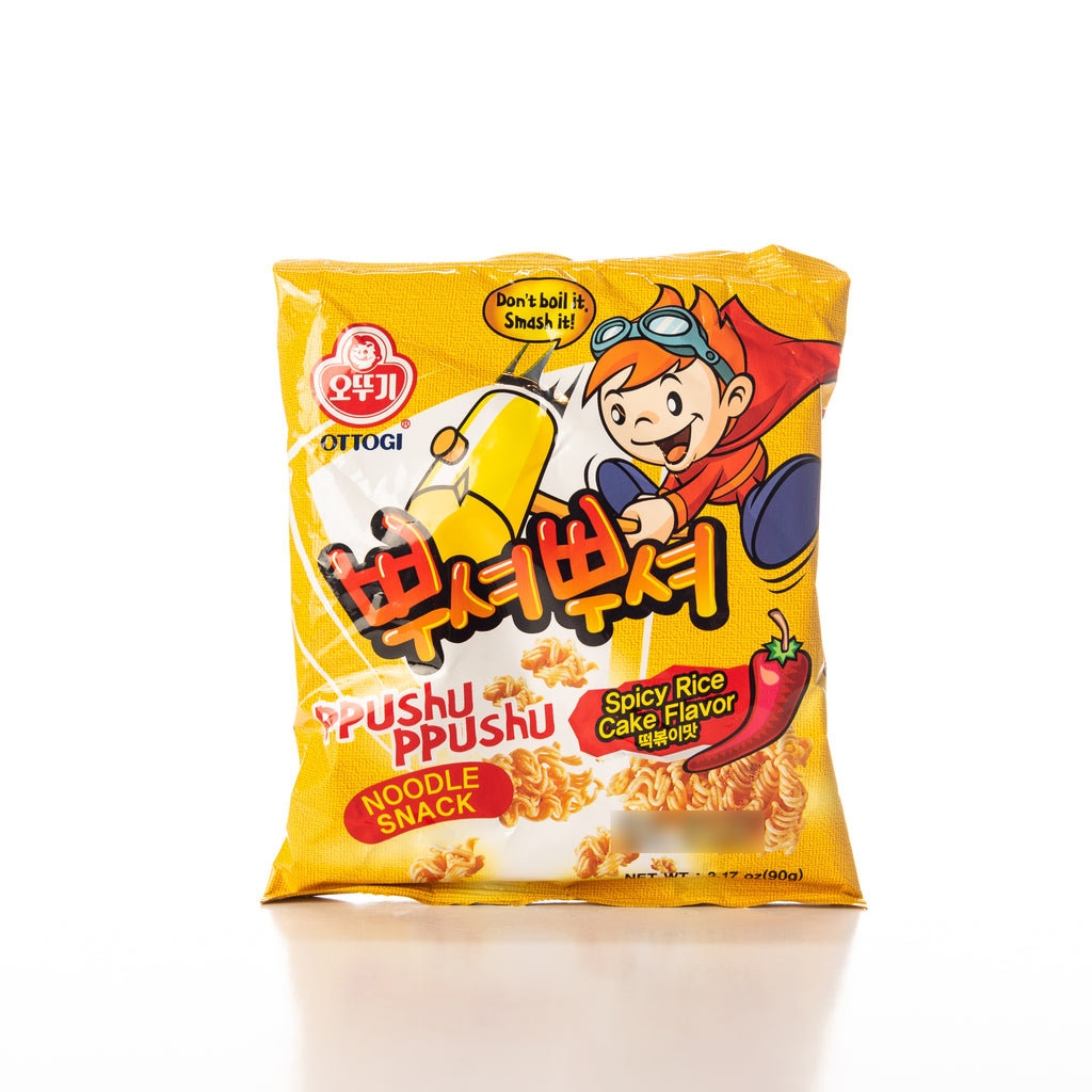 Ottogi Ppushu Ppushu Spicy Rice Cake Noodle Snack