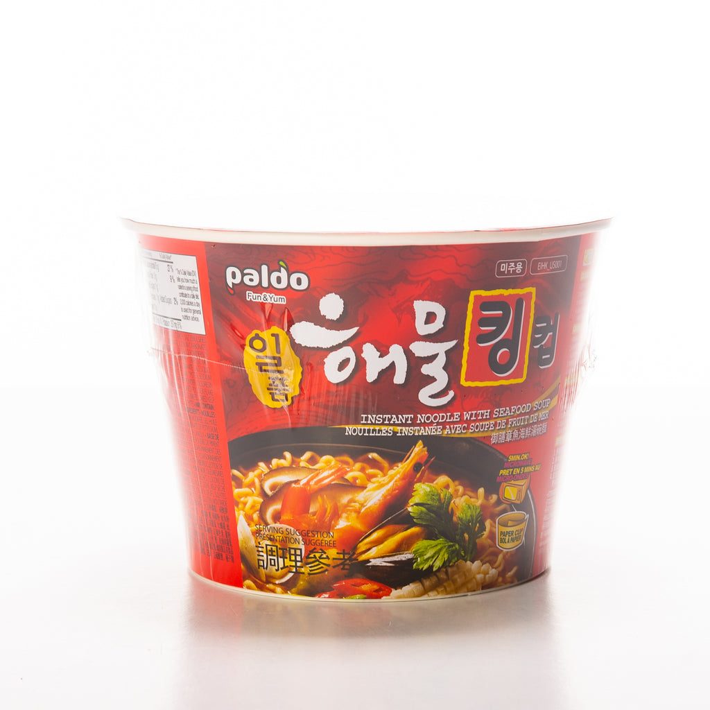 Paldo Spicy Seafood Noodle Soup King Bowl