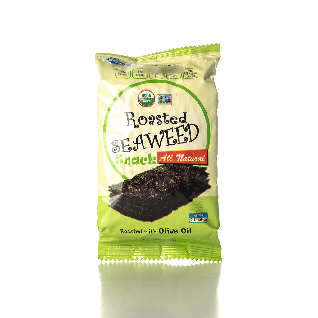 Paldo Matnara All Natural Roasted Seaweed with Olive Oil