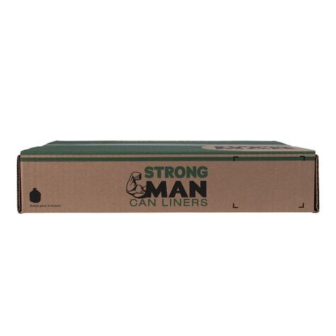 Strongman 33 Gallons Black Trash Bags 2.0 Mil (Case of 100) - Raemart