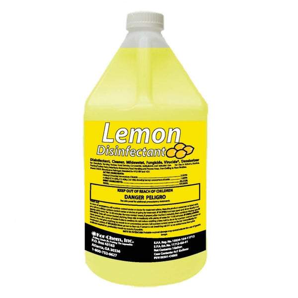 Disinfectant, Sanitizer Concentrate Kor-Chem Brand with Lemon Scent 1 gallon - Raemart