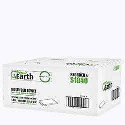 Simple Earth Natural or White Multi-Fold Paper Towel 4000 sheets - Raemart