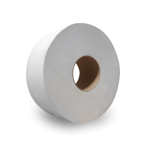 "Nova 9"" Jumbo Tissue Ultra Soft White 2-Ply (Case of 12 Rolls) - Raemart"