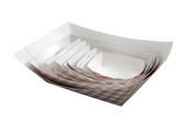 Paper Food Tray Red Plaid Empress Brand - Raemart