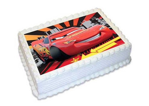 Cars 3 A4 Edible Cake Image