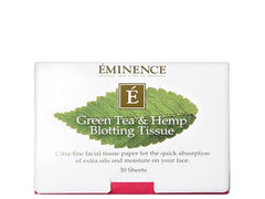 Eminence Green Tea and Hemp Blotting Tissues
