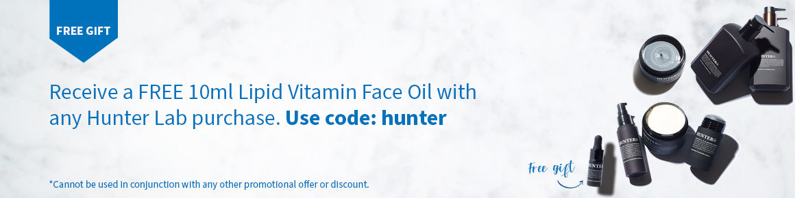 Receive a Free 10ml LIpid Vitamin Face Oil with any Hunter Lab purchase