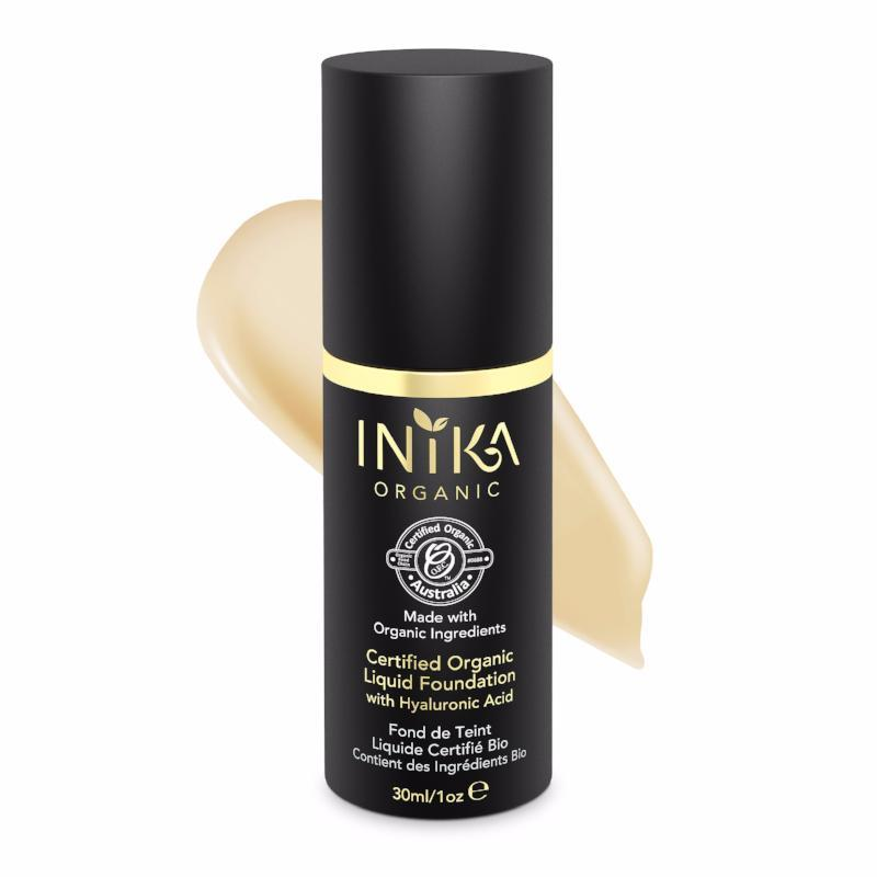 INIKA Certified Organic Liquid Mineral Foundation 30ml - Cream