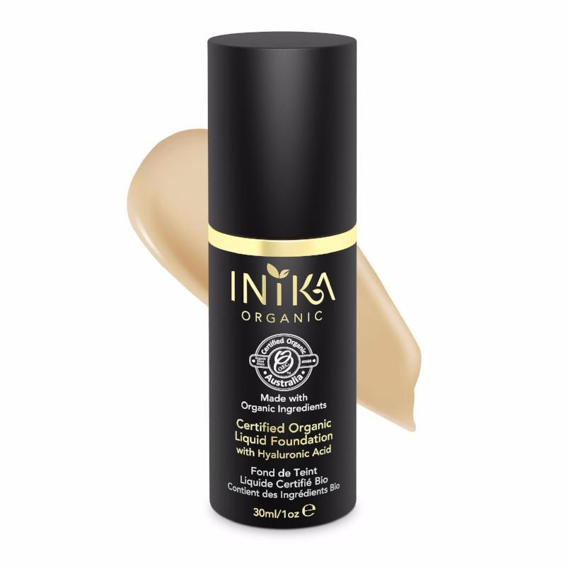 INIKA Certified Organic Liquid Mineral Foundation 30ml - Honey