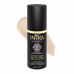INIKA Certified Organic Liquid Mineral Foundation 30ml - Porcelain