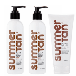 Summer Tan Self Tanning Lotion - Dark Pack, | primary image