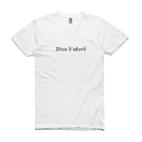 Dieu d'abord 'God' T-Shirt - Buy Online