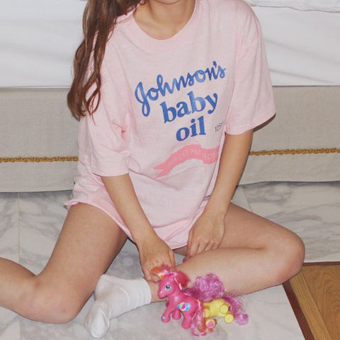 Johnson's Baby Oil T-Shirt <p><i>various colors</i></p>