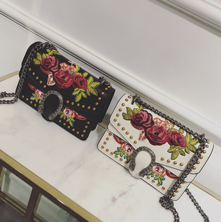 Le Jardin Garden of Eden Embroidered Shoulder Bag - Buy Online