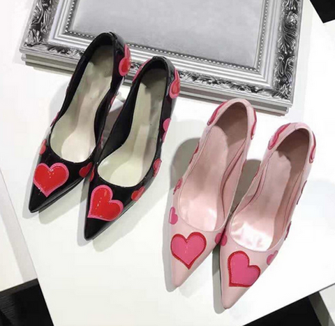 Le Ella Love Heart Kitten Point Toe Heel - Buy Online