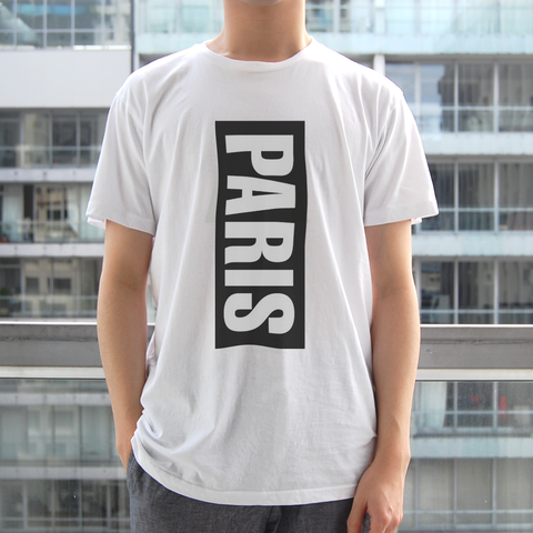 Paris Black and White Vertical T-Shirt