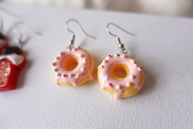 Brown Donut Earrings