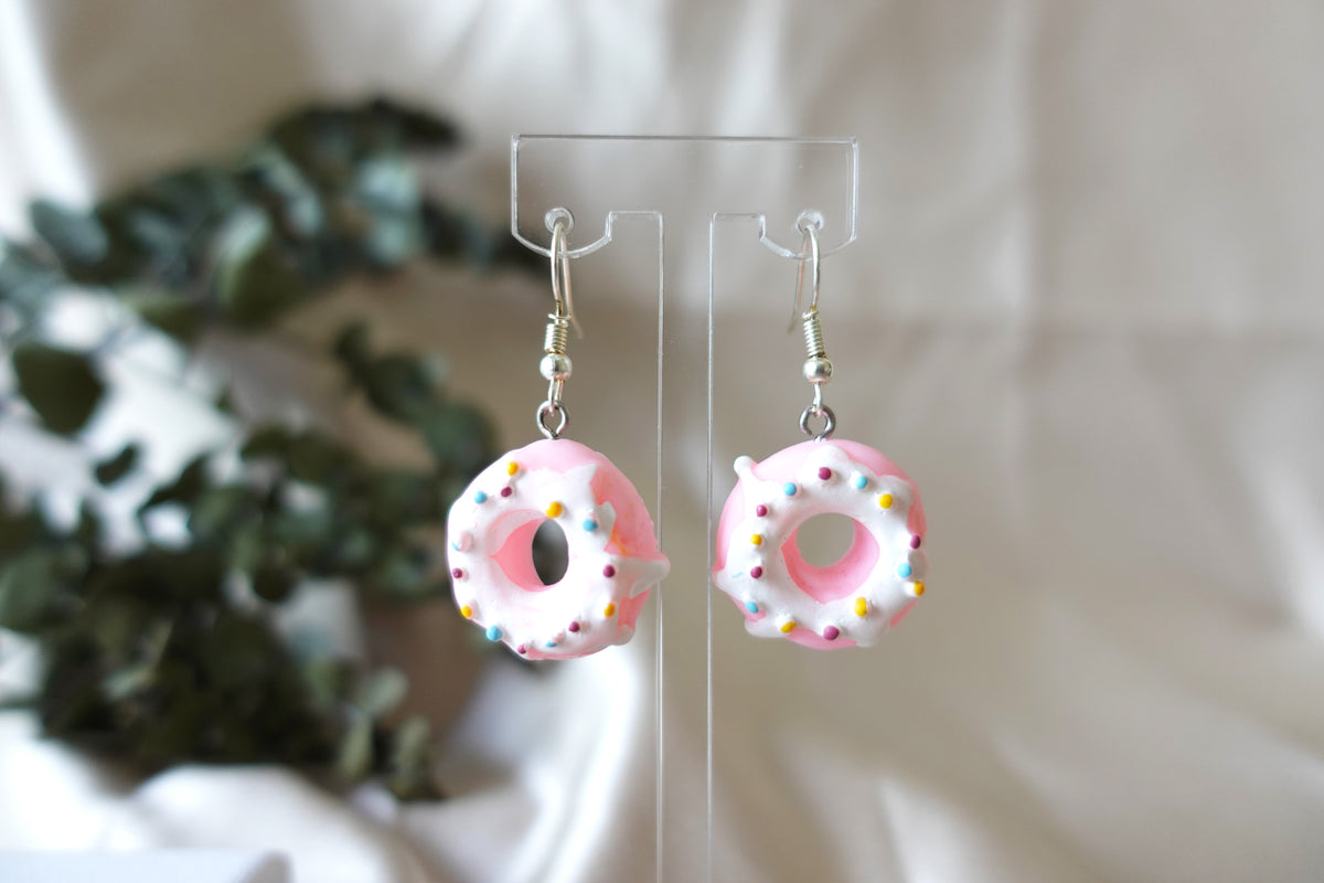 Pink Donut Earrings