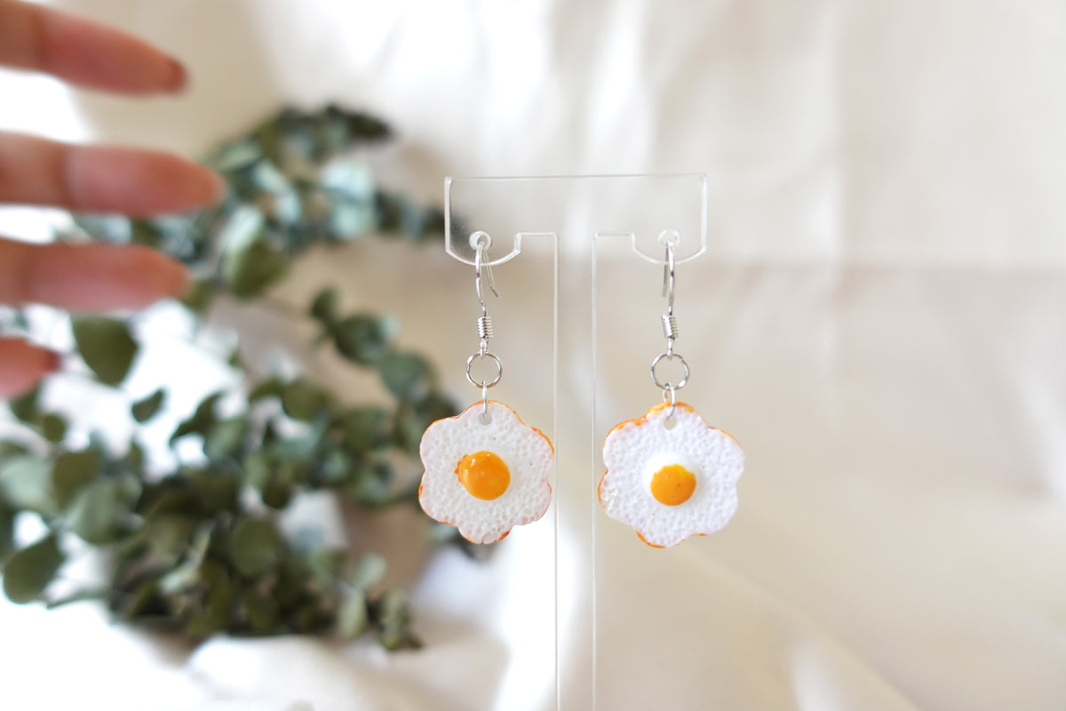 Flower Egg Earrings