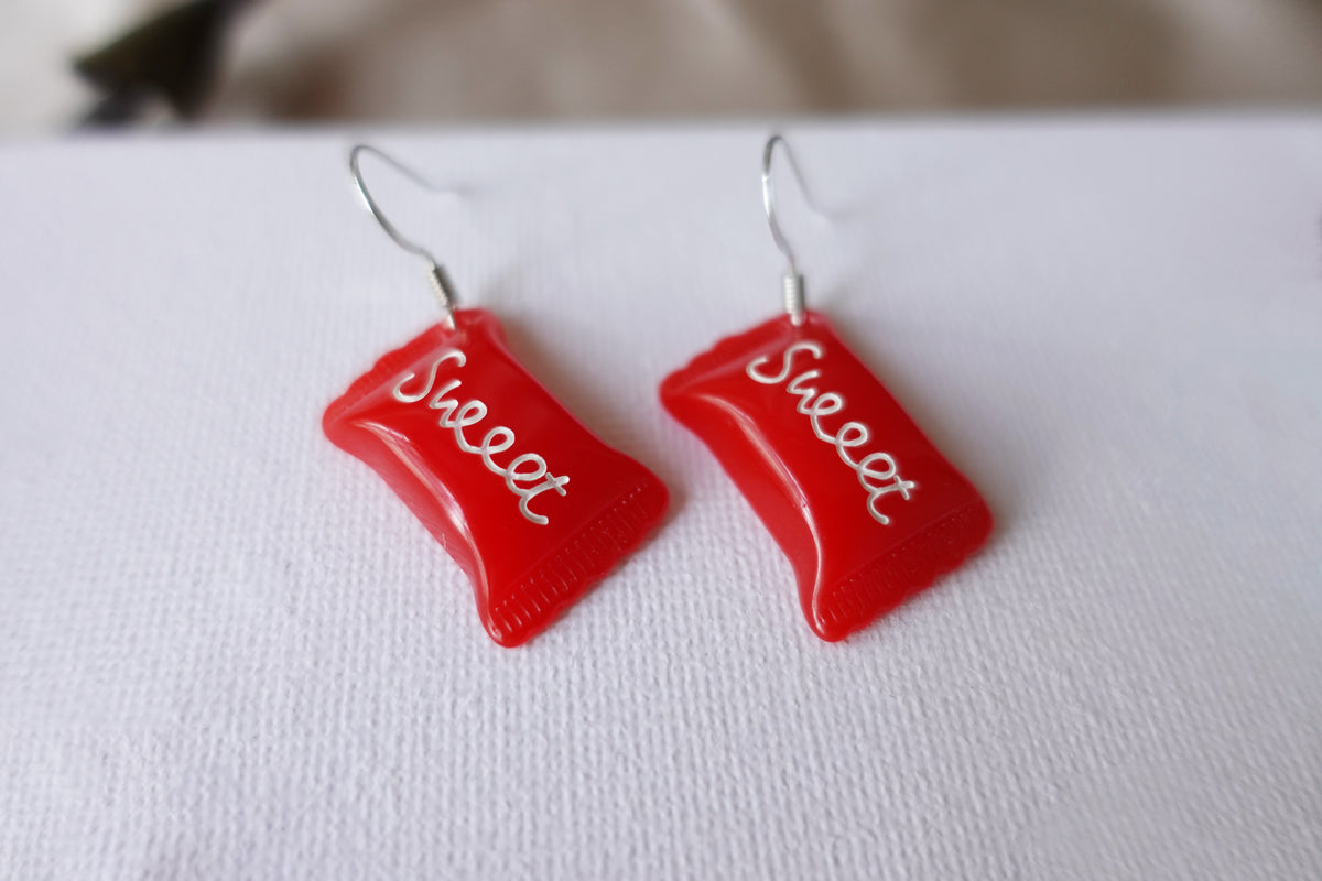 Red Sweet Earrings