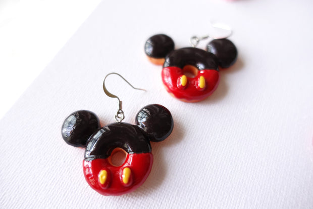 Big Mickey Donuts Earrings